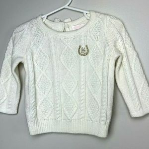 Janie Jack Girls 6 12 Month Sweater embroidered